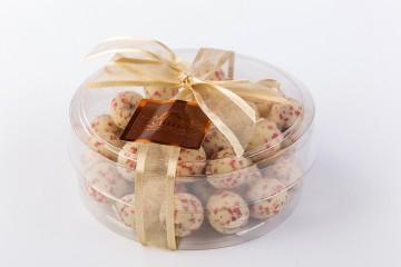 Dražeje bijela čokolada s crvenim paprom, 180 g