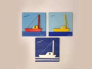 Slike drvene, brodić